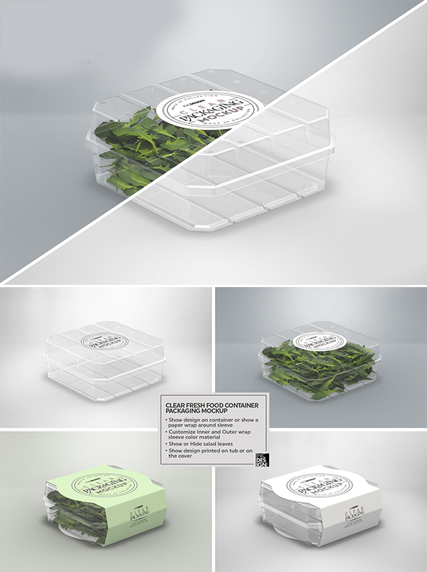 Clear Fresh Food Container Mockup
