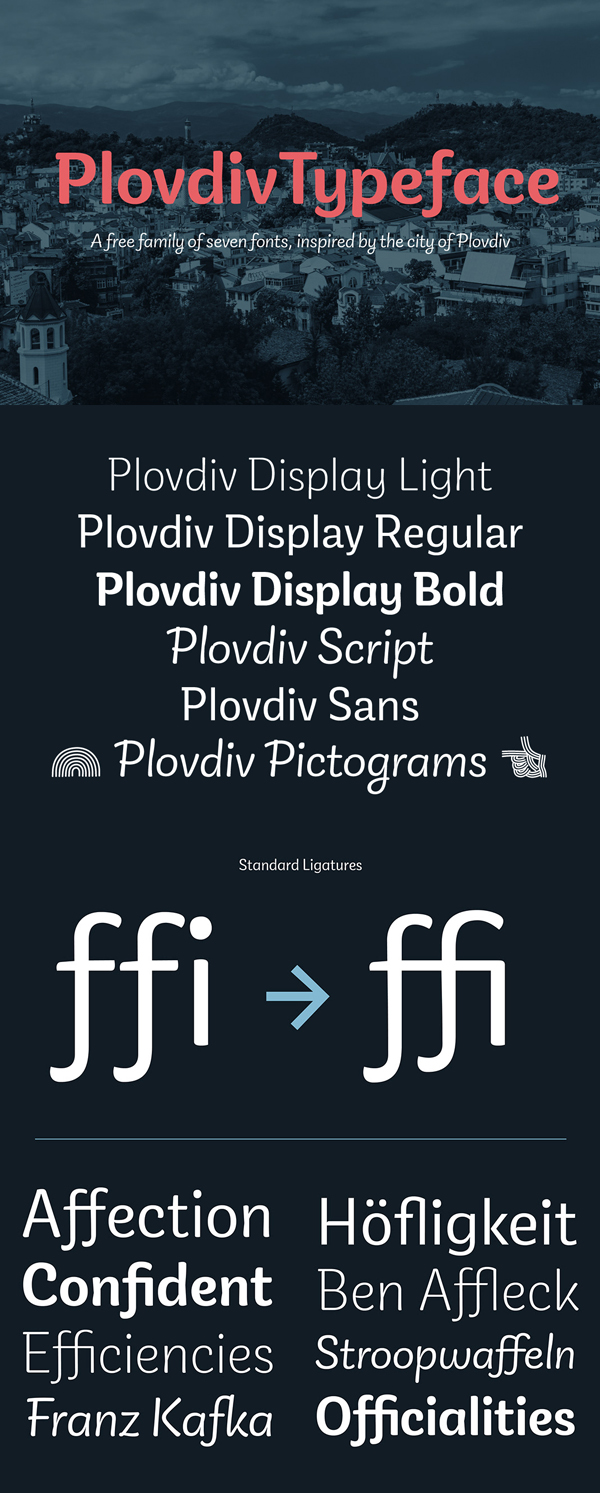 PlovdivTypeface Free Font