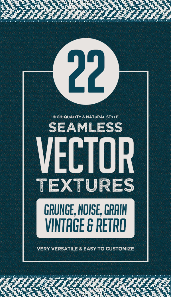 22 Seamless Vector Textures Sets (Vintage and Halftone)