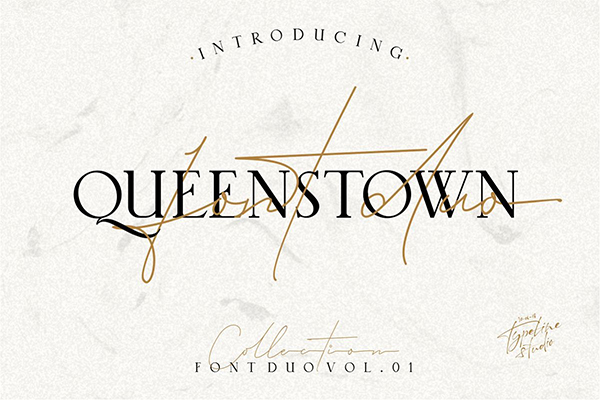 Queenstown 2 Font Signature & serif
