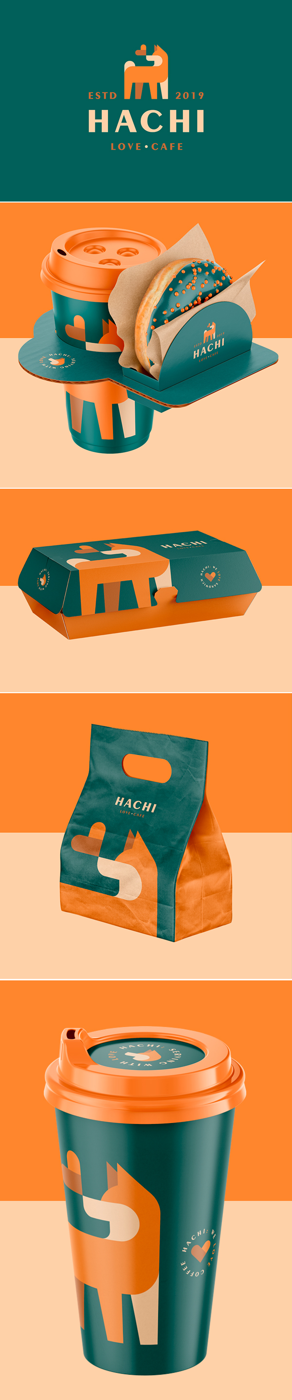 Hachi Coffee Branding (Logo / Packaging) by Guilherme Vissotto