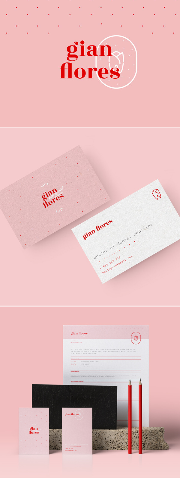 Dr. Gian Flores Personal Identity branding by Princess Nicole Castaneda