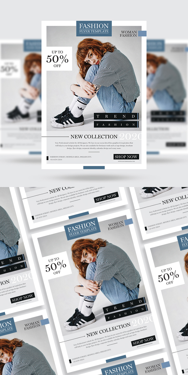 Free Fashion Flyer Template Free Font