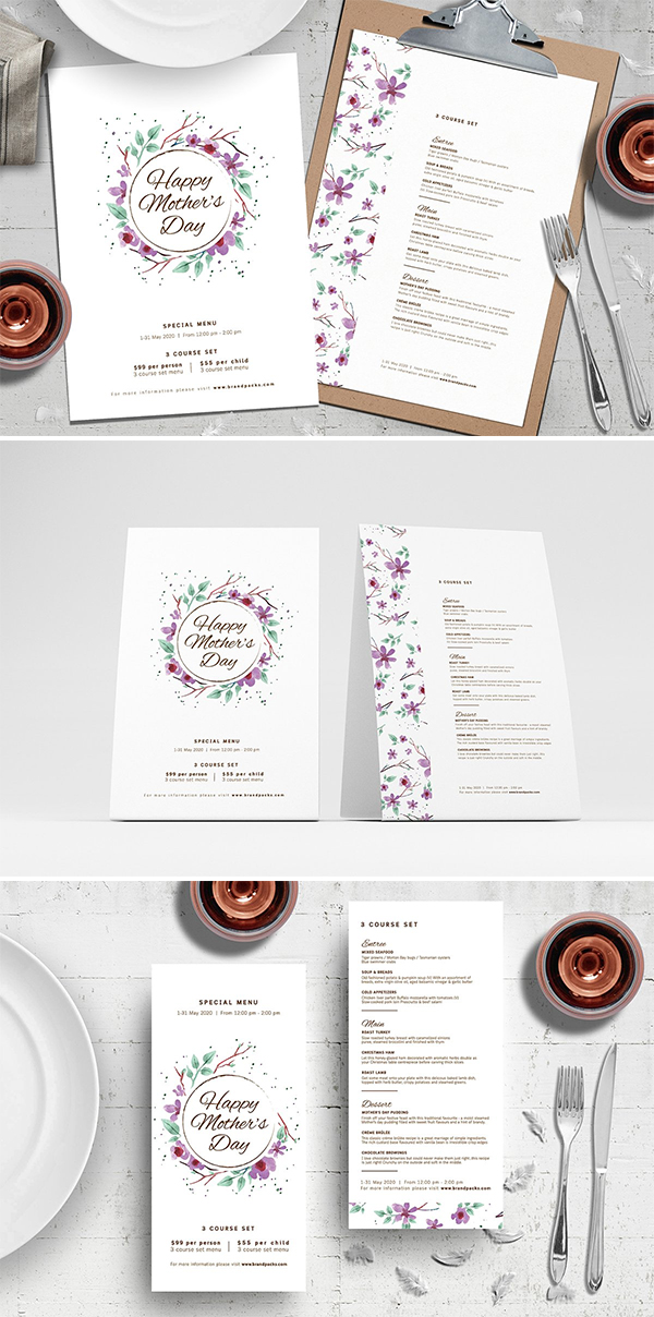 Mother's Day Menu Template