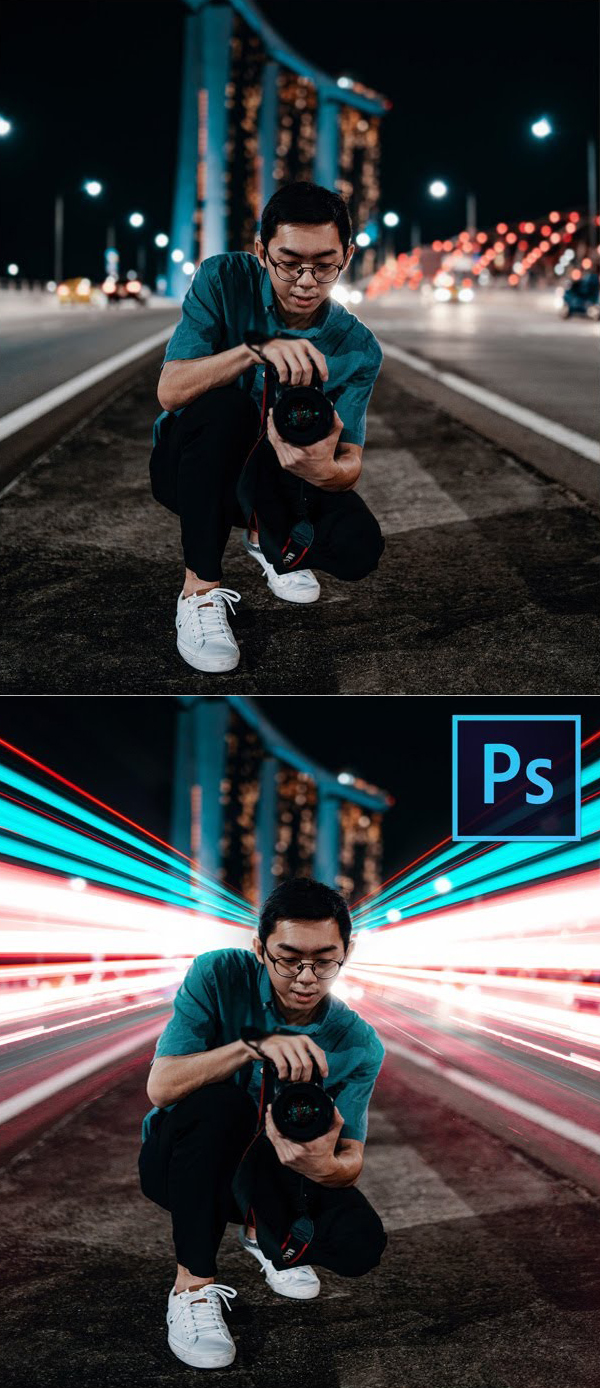 How to Add Fake Long Exposure Effect in Photoshop Tutorial