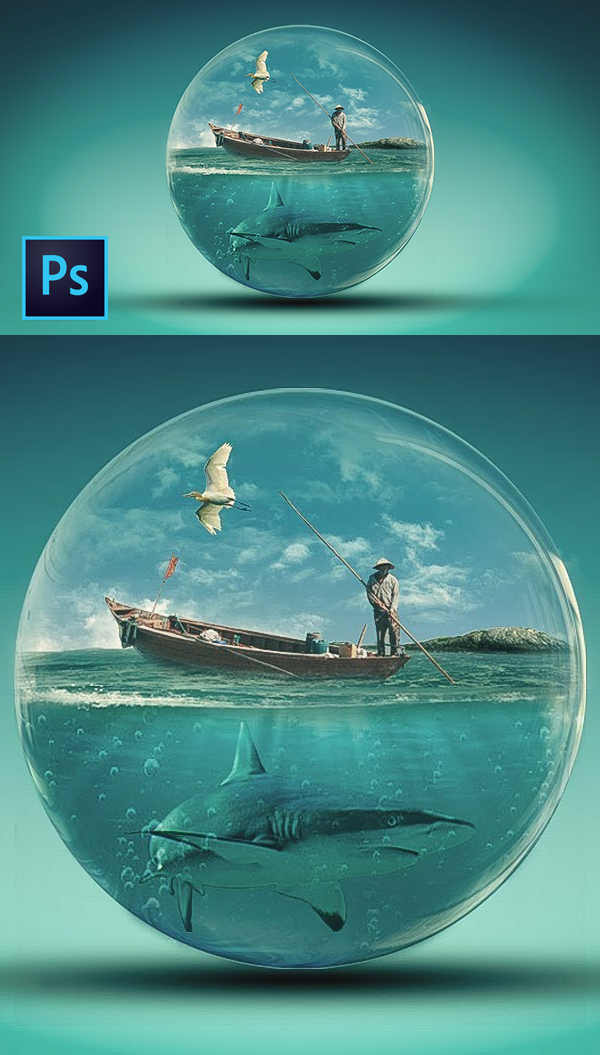 How to Create Glass World Photoshop Manipulation And Transparent Effect Photoshop Tutorial