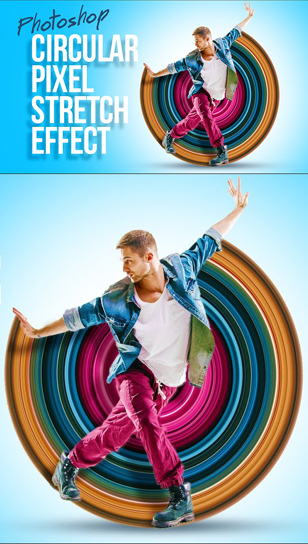 How to Create an Awesome Circular Pixel Stretch Effect in Photoshop Tutorial