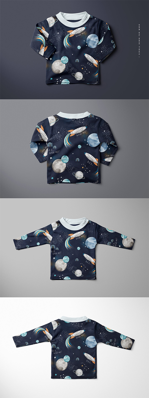 Baby Toddler Long Sleeve Mockup Set
