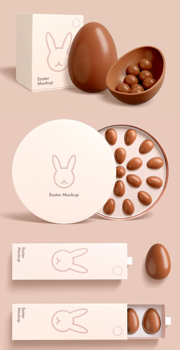 Easter Chocolate Package Mockup