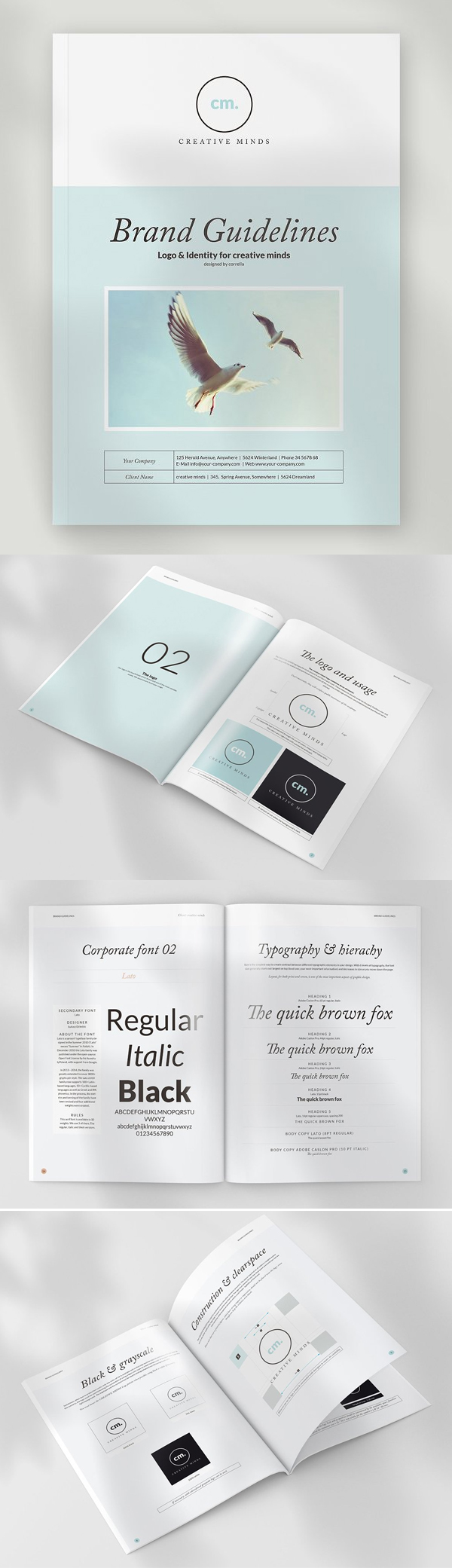 Brand and Design Guidelines InDesign Brochure Template