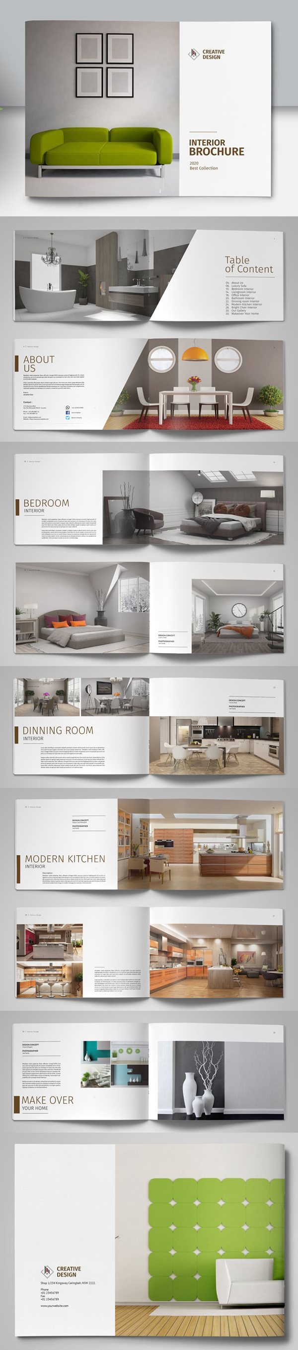 Brochure Catalog Design Template