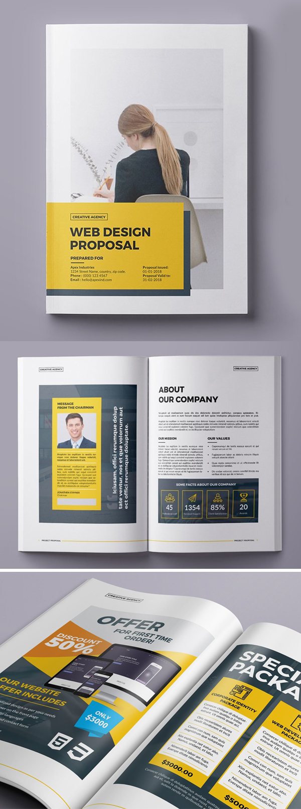 Professional, Creative Web Design Proposal Template