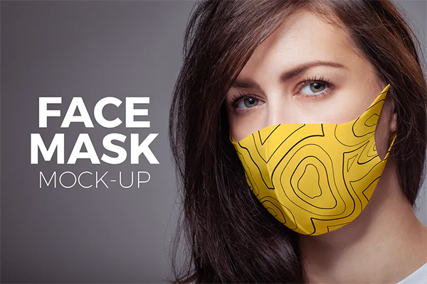 Yellow Face Mask Mock-up