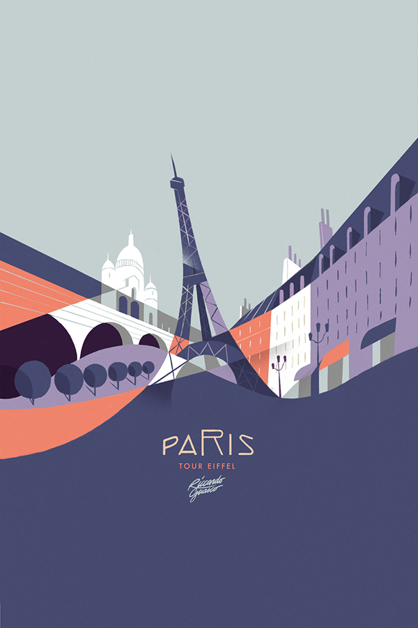 Creative Illustrated Posters by Riccardo Guasco