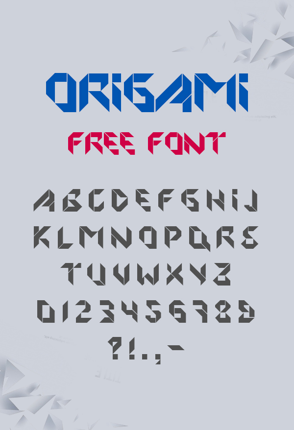 Origami Font Free Download