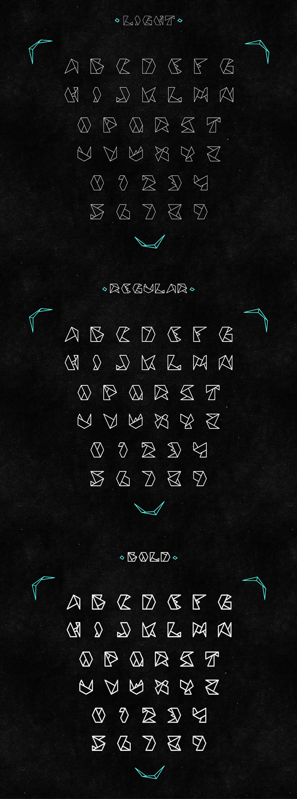 ORIGAMIC Free Font Letters