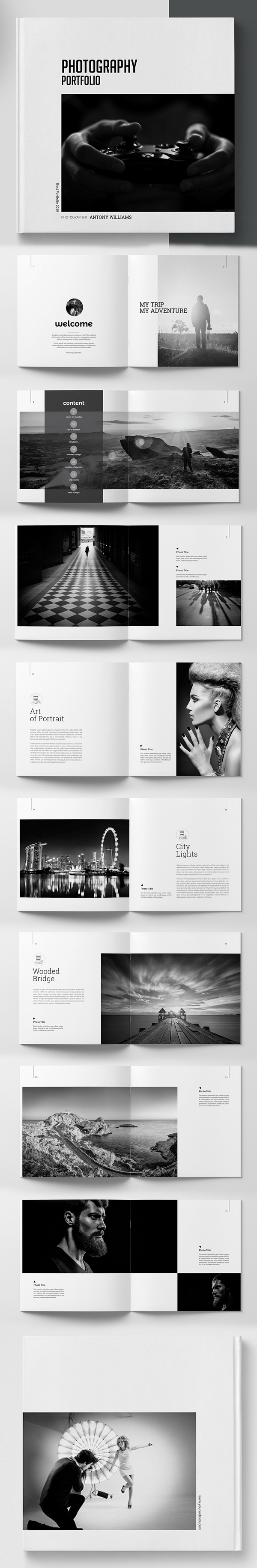 Photography Square Portfolio Template