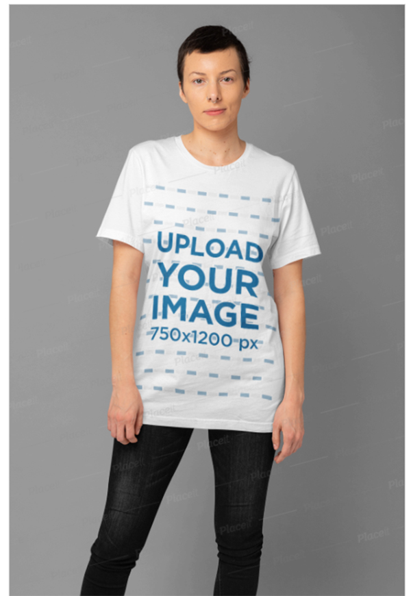 T-Shirt Mockup of a Woman Wearing a Slouchy Tee
