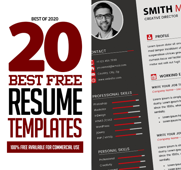 20 Best Free Resume Templates