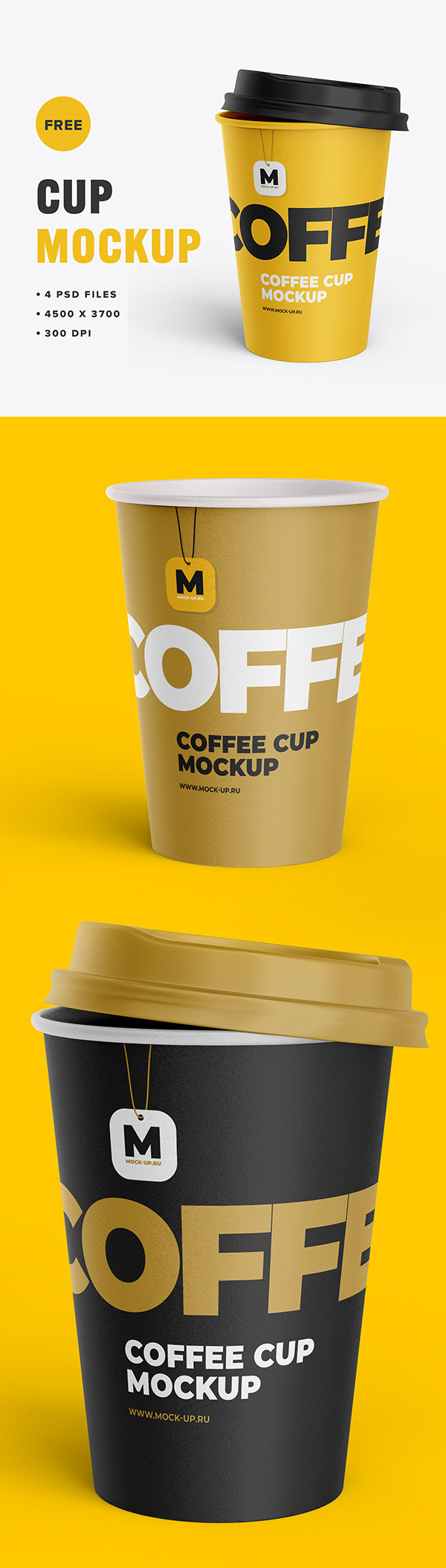 Free Tea and Coffee Cup Mockup