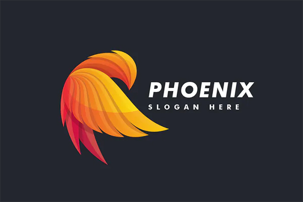 Bird Phoenix Colorful Logo Design