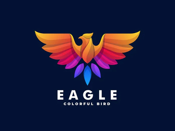 Eagle Gradient Colorful Logo Design