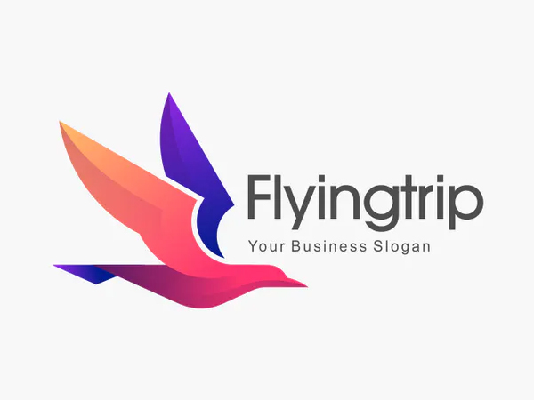 Bird Flying Gradient Colorful Logo Template