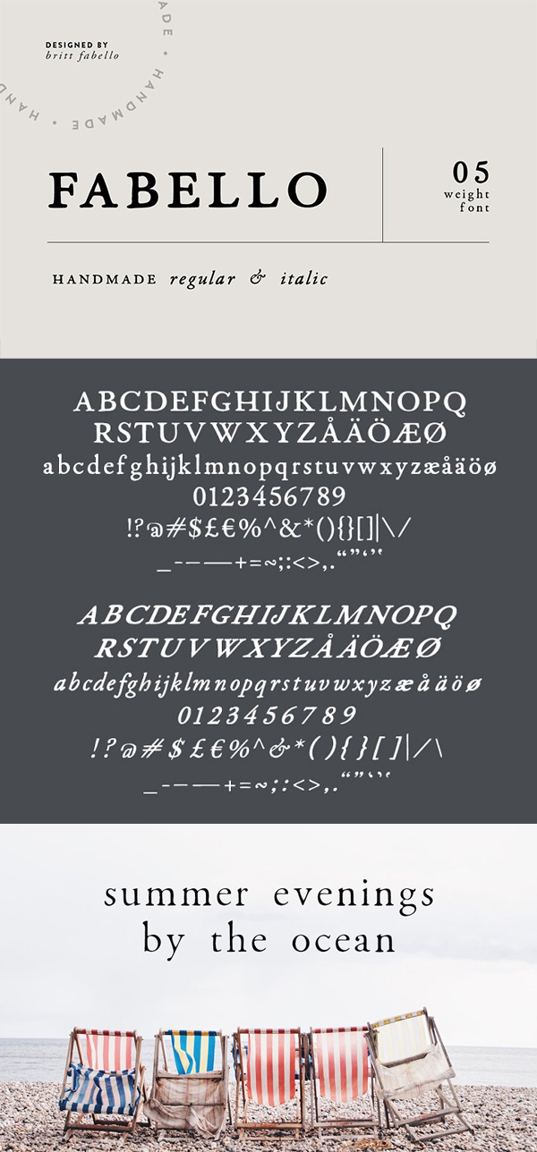 Fabello Family / Hand Lettered Font