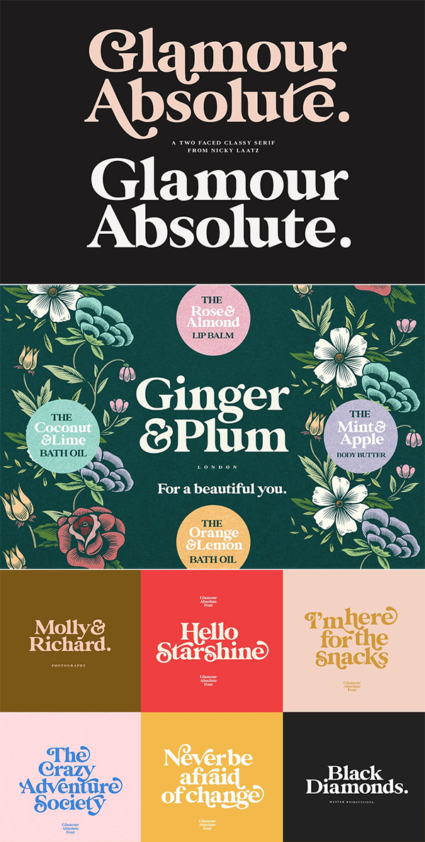 Glamour Absolute Modern / Vintage Font