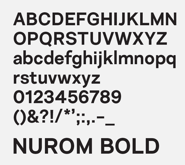 Nurom Font Letters