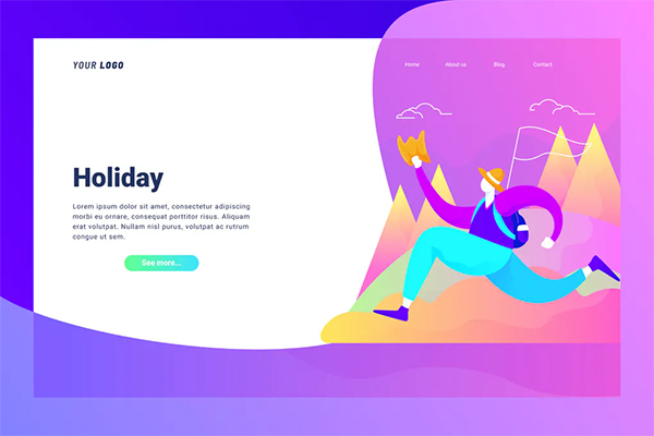 Holiday - Landing Page
