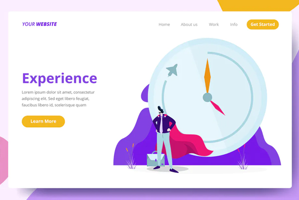 Experience - Landing Page