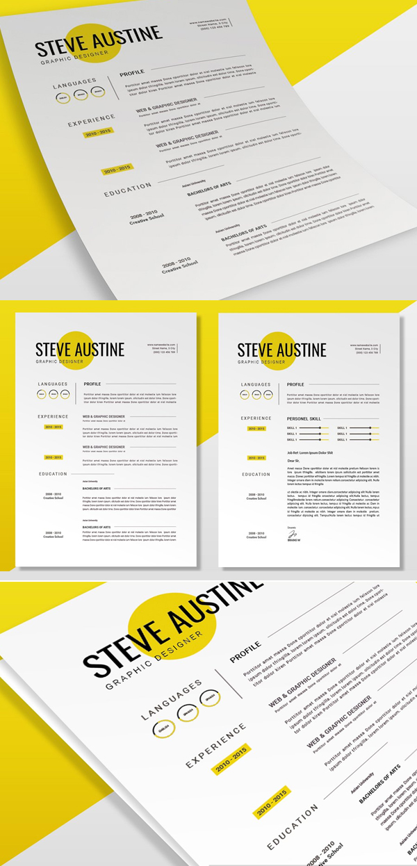 Minimal Yellow | CV & Resume