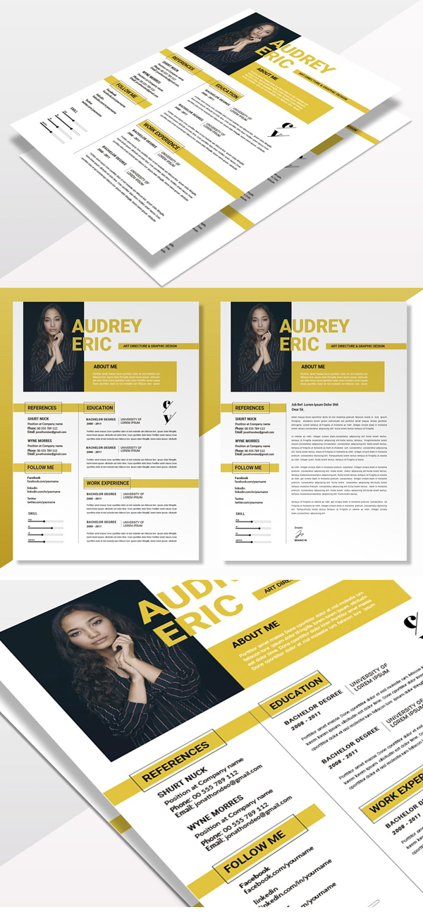 Yellow Clean | CV & Resume