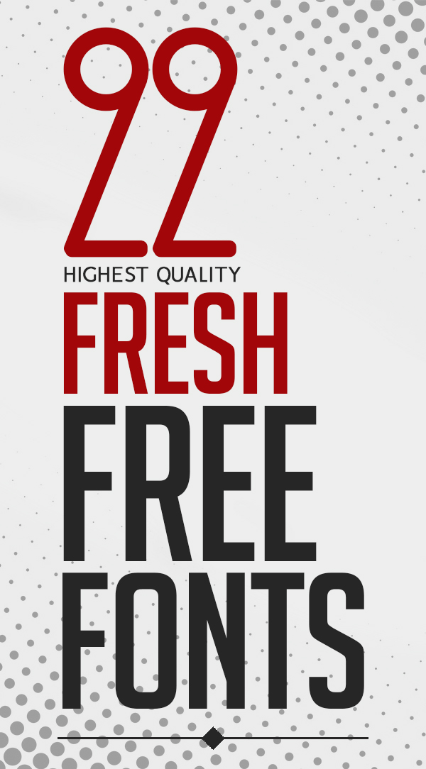 22 Fresh Free Fonts For Designers