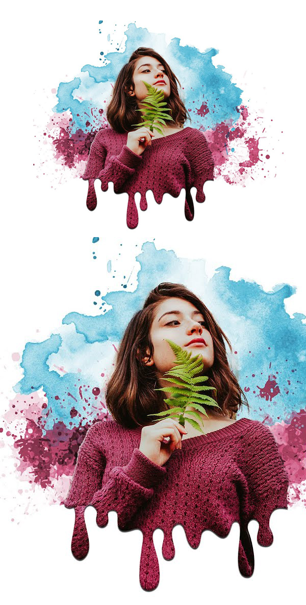 Create Amazing Dripping Paint Splatter Portrait Effect in Photoshop Tutorial