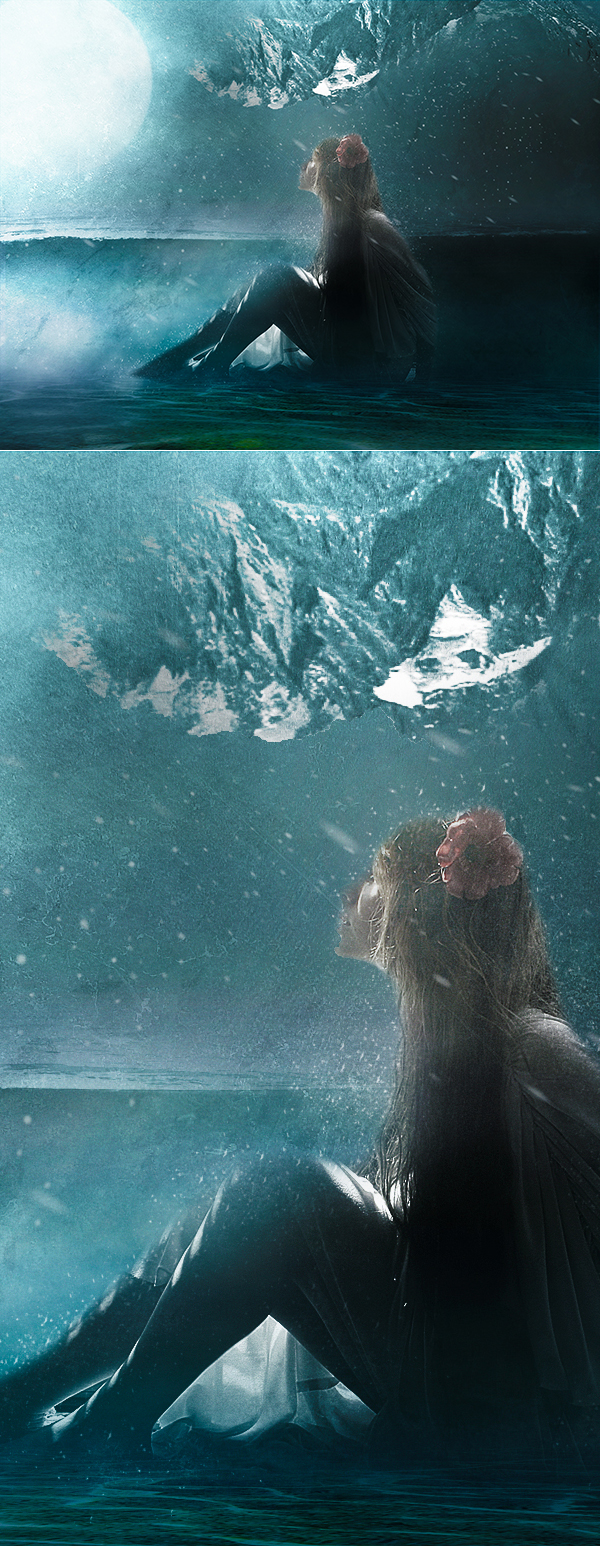 Create Surreal Girl in Water Scene in Photoshop Tutorial