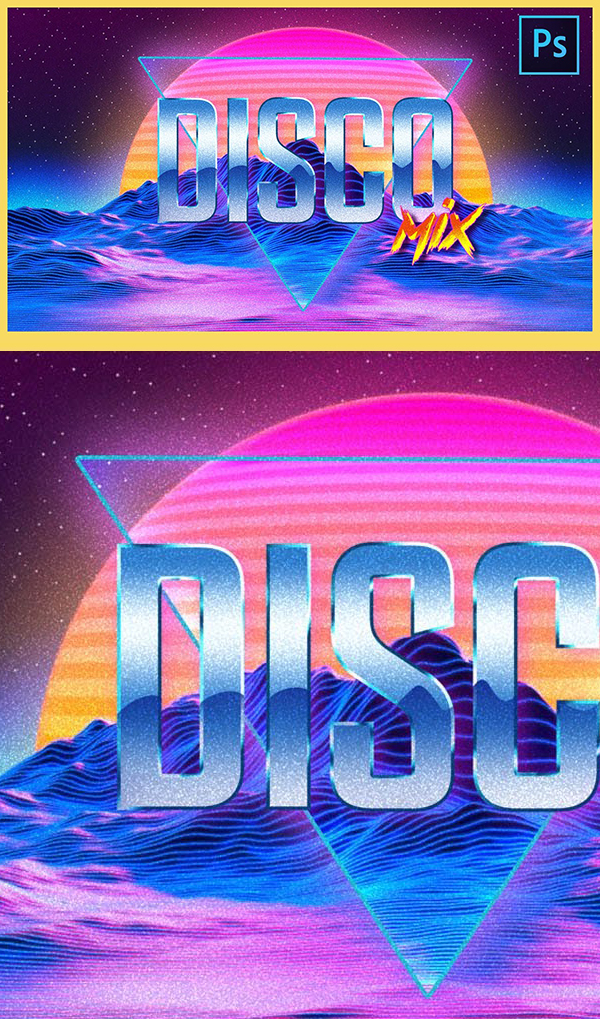 How to Create 80s Retro Text in Photoshop CC 2020