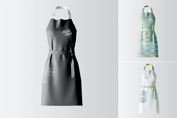 Restaurant and Home Kietchen Apron Mockup
