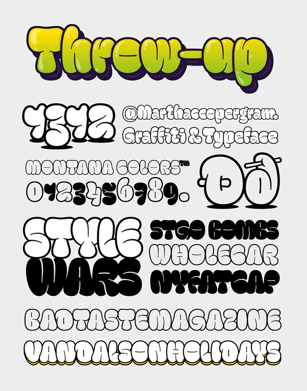 Throw-Up Free Font