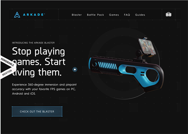Arkade Blaster - Website Design - 16