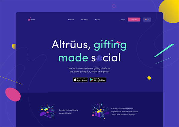 Altrüus Gifting Made Social - Website Design - 39