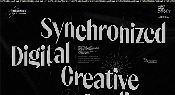 Synchronized Studio - Website Design - 5