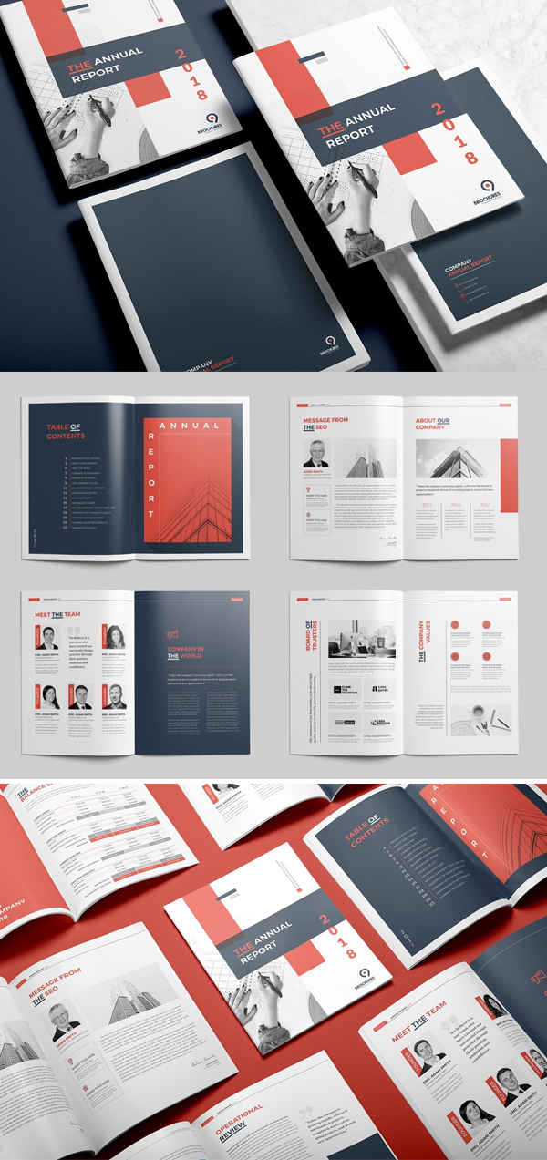 The Red Annual Report Template