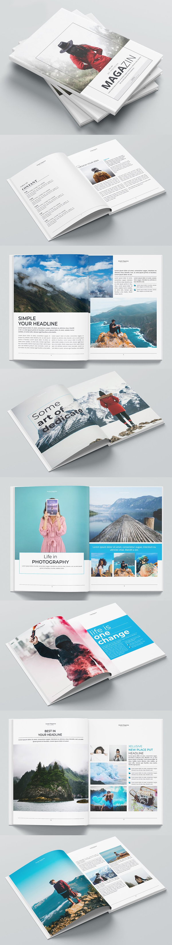 Simple Business Magazine Brochure