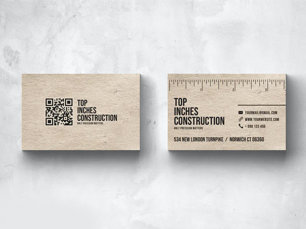 Inches Business Card Design