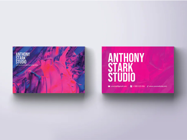 Abstract Cloud Business Card