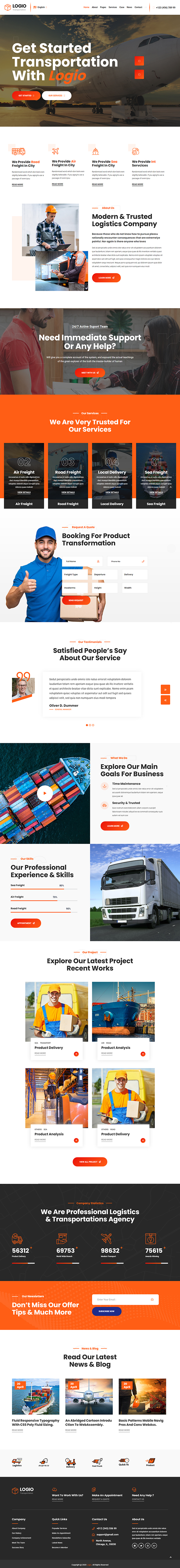 Logio - Logistics & Transportation WordPress Theme
