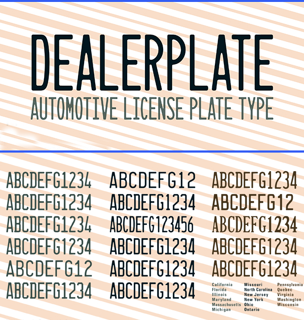 Dealerplate Free Font