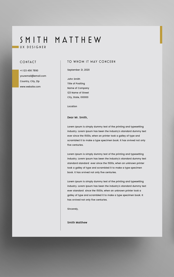 Free CV Resume Template + Cover Letter (PSD)